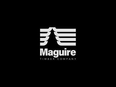 Maguire Timber Co. monochromatic outdoor logo timber forestry logos logodesign logomarca logomaker logomark logotype typography vector minimal flat design mark logo illustrator clean branding