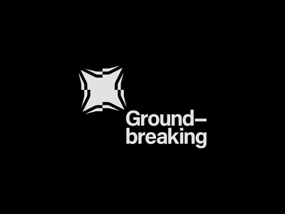Ground-breaking Construction Ltd. designer glitch logos abstractlogo monochromatic graphicdesigner graphicdesign graphic logomark logotype typography vector minimal flat design mark logo illustrator clean branding