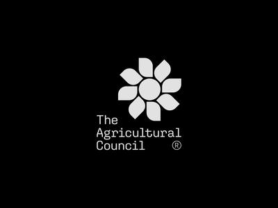 The Agricultural Council monochromatic identity branding identitydesign identity brand identity brand design brand logo design logotype logomark typography vector minimal flat design mark logo illustrator clean branding