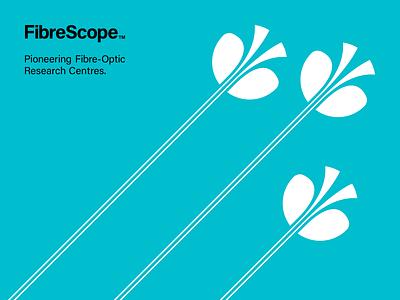 FibreScope Pattern Design timeless modern advertising fibreoptic corporate tri-tone patterndesign pattern identitydesign brandidentity logotype logomark vector design illustrator minimal clean mark logo branding
