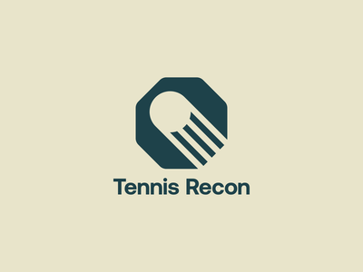Tennis Recon graphic design logodesign dynamiclogo tennis timeless modern identitydesign brand brandidentity logotype logomark vector illustration design minimal illustrator clean mark logo branding