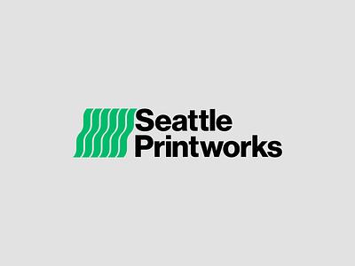 Seattle Printworks swiss brandidentity brand identity logotype logomark modernism minimalism timeless vector design minimal illustrator clean mark logo branding printworks print seattle