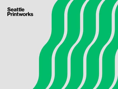Seattle Printworks pattern design green graphic design timeless brandidentity identity brand print advert logotype logomark patterndesign pattern vector design minimal illustrator clean mark logo branding
