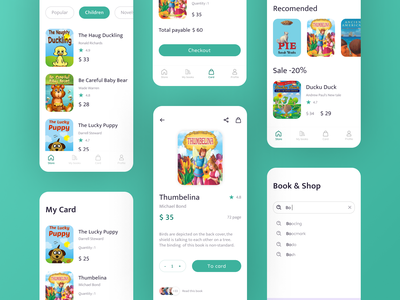 Book store app children child ui books book ios app design ux  ui ui design figma