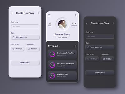 My Task, My List (mobile app concept) lists tasks list task neomorphism ui app design ux  ui ui design figma
