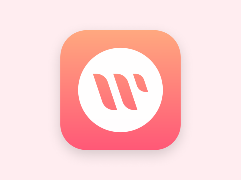 WeBurn - Fresh App Icon clean workout startup ios logo hiit gradients women fitness app icon app