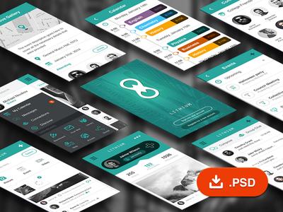 Lithium - Free Mobile UI Kit
