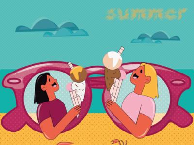 Summer vibes relax sea beach sky icecream summer sunglasses