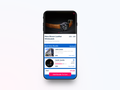 YAO Shipping App - Product Page sale product travel shopping e-commerce design ios app ux ui