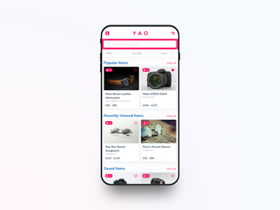 YAO Shipping App receipt confirm sale product travel shopping e-commerce design ios app ux ui