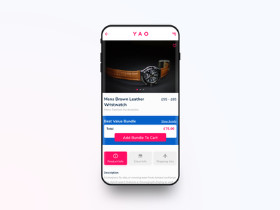 YAO Shipping App - Product Page progress steps sale product travel shopping e-commerce design ios app ux ui