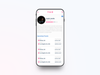 YAO Shipping App - Profile Page