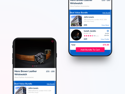 YAO Shipping App - Product Page seller user profile sale product shopping e-commerce design ios app ux ui