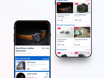 Yao Listings & Product featured search listing shopping e-commerce design ios app ux ui