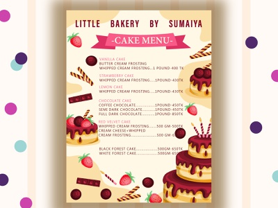 cake menu 2 branding animation typography logo vector illustrator illustration graphic design design art