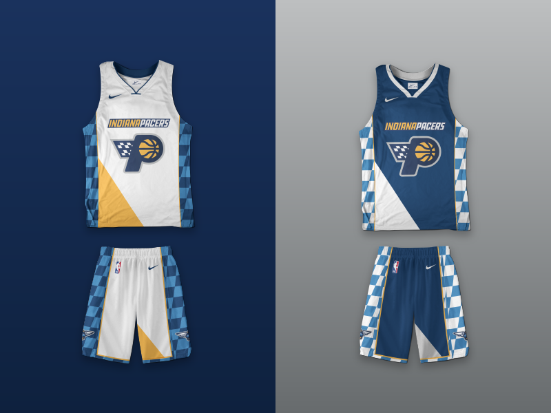 buy popular f2171 47ee3 Indiana Pacers Rebrand - Jerseys by Andrés Francken on Dribbble