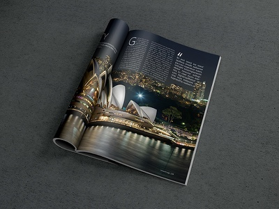 Magazine PSD Mockup (FREE PSD) magazine free mockups mockup design graphic freebie psd download indesign layout brochure