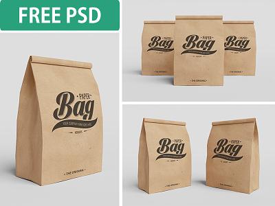 Paper Bag PSD Mockups (FREE PSD) paper bag psd mockup freebie packaging branding design packages elegant shopping brand free
