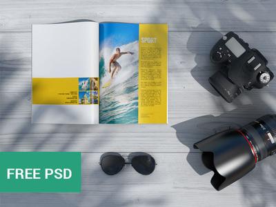 Magazine Psd Mockup 2 (FREE PSD)
