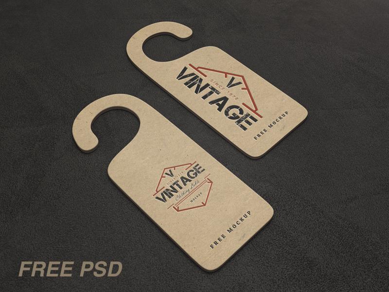 Vintage Label Psd Mockups (FREE PSD) logo branding clothing label tag vintage freebie graphic design mockup mockups free