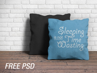 Pillow Mockup (FREE PSD)