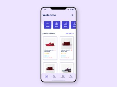 Online shopping app UI branding ux morden design products online shopping uiux ui