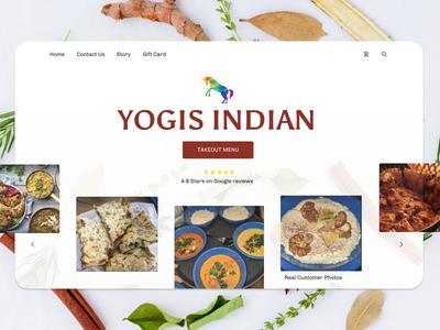 Yogis Indian - Local business design website website design web design webdesign web