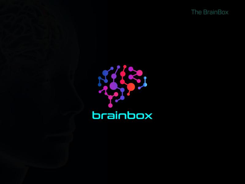Abstract BrainBox Logo Concept brainstorming vector typography brand identity brainstorm icon abstract logo minimal logo design branding