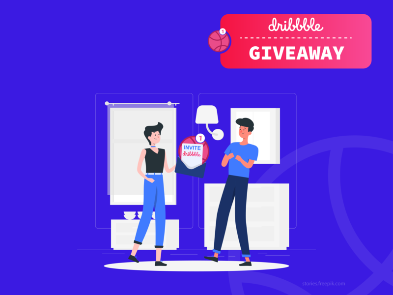 1 Dribbble Invites Giveaway freelancer free dribbble invite icon illustrator abstract logo typography vector minimal design logo branding