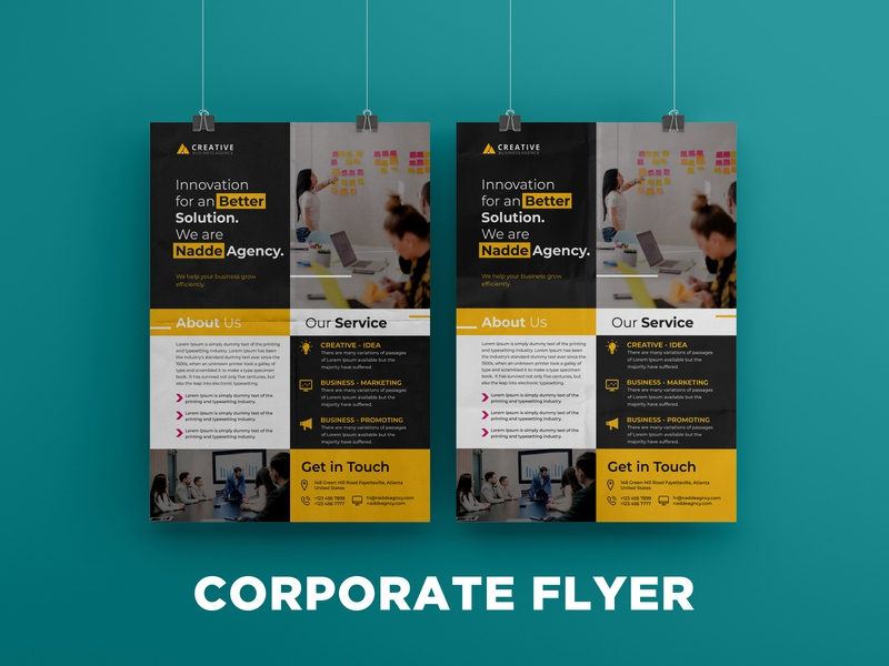Corporate flyer design flyers flyer design brochure design design flyer artwork brochure flyer corporate flyer brand identity branding
