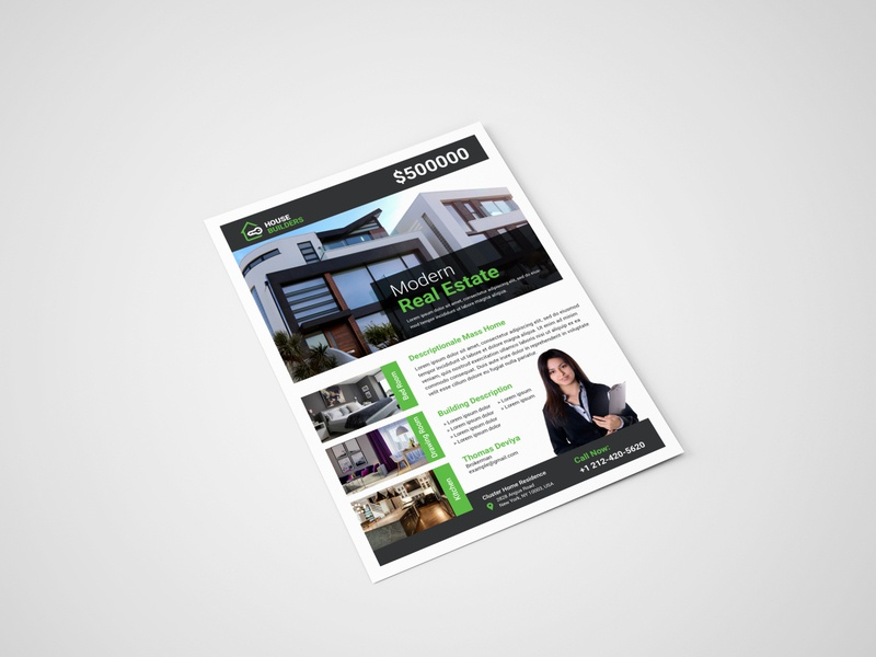 Real estate flyer template corporate brochure brand identity branding design flyer design flyer brochure design real estate realestate real estate flyer corporate flyer real estate agency