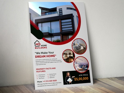 Real estate flyer template corporate flyer branding design flyers flyer artwork brand identity flyer design brochure brochure design corporate flyer