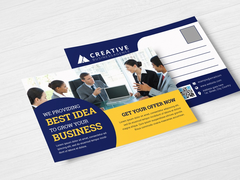 Corporate postcard flyer branding design brand identity flyer design flyer artwork brochure design corporate flyer direct message direct mail eddm postcard postcard design poster design postcard