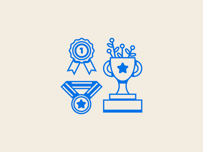 Peachtober Day 8 - Prize peachtober inktober award winning winner medal ribbon trophy prize graphic design illustration minimal branding logo icon flat vector illustrator design