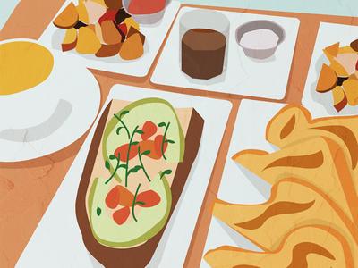 Brunchin' newdesign food illustration food unsplash illustrations illustrator vector illustration brunch
