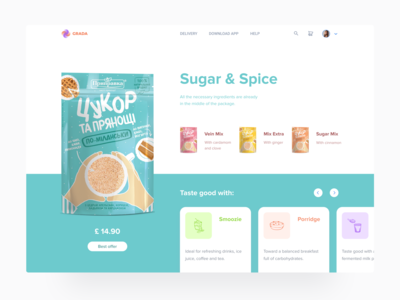 Culinary Platform user inteface service design ux design ui design concept web food app food healthy ecommerce icons spice sugar mvp platform baking cooking culinary