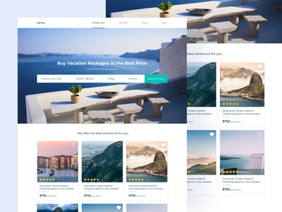 Travel Agency – Home Page figma ux design ui design home page sea vacation trip tours tourism travel app travel agency travel colorful user inteface web