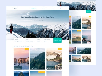 Travel Tours Website travelling figma design concept sea web tourism tour camping travel agency travel app travel colorful ux design ui design user inteface