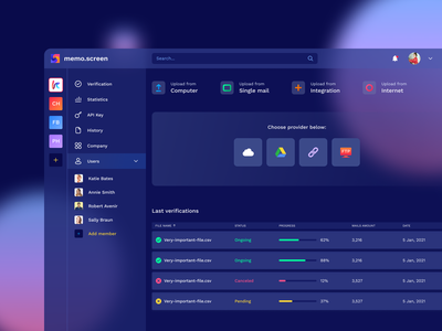 Glassmorhism Design Concept sidebar menu sidebar icons dark theme dark mode dashboard ui morphism glassmorphism 2021 trend 2021 design blur transparency transparent concept figma web colorful ux design ui design user inteface