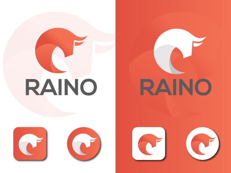 Raino Logo / App Icon multiple color prism logo vector flat design branding app icon logo app logo icon