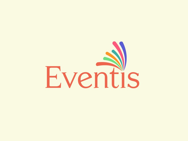 Simple Eventis Logo multiple color branding colorful logo minimalist logo flat logo logo