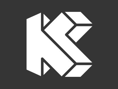 "Personal ""Monocon"" Reversed kvnlp k logo identity letter alphabet mc escher escher monogram"