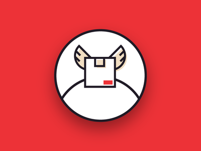 Home Delivery Icon shop delivery box web branding e-commerce usp icon