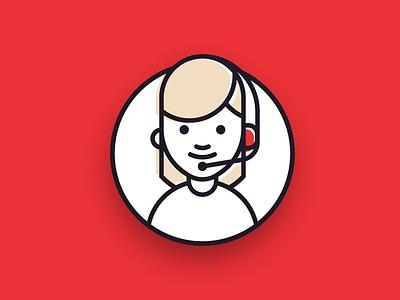 Customer Service Icon shop agent support web branding icon usp e-commerce