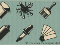 Vintage icons preview