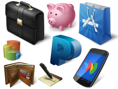 Free Ecommerce Icons icons ecommerce briefcase paypal payment appstore wallet