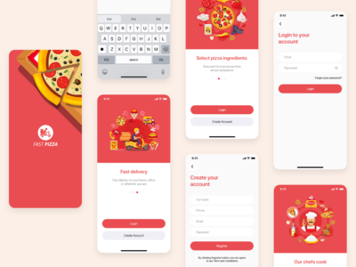 Fast Pizza - A Food Delivery App Design - Part 1 fast food food delivery pizza delivery pizza delivery food