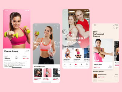 Fitness App UI - Part 3 yoga app fitness ui gym app fitness app gym fitness