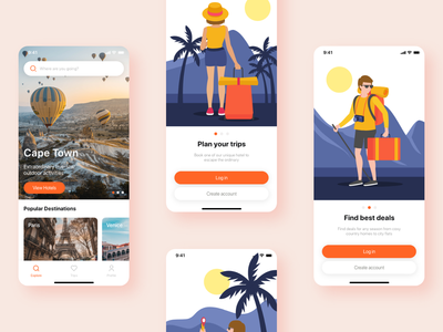 Travela - A Travel and Hotel booking App (Part-2) home travela booking app travel app ui sign up forgot login splash booking hotel travel