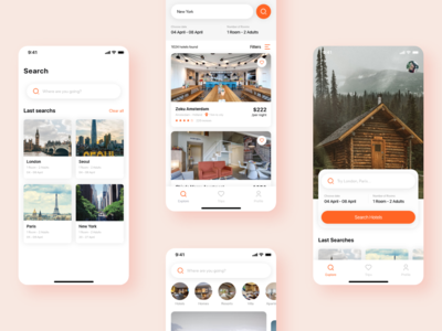 Travela - A Travel and Hotel booking App (Part-3) search travela booking app travel app ui sign up forgot login splash booking hotel travel